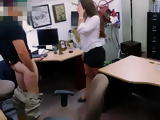 Blackmailed Scammer With Nice Tits and Amazing Ass Fucked at Pawn Shop