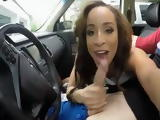 Ebony Teen Gets Pounded On The Back Seat Of A Car And Gets Mouthful