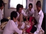 Busty House Maid Could Not Defend Herself From Bosses Son And His Friends