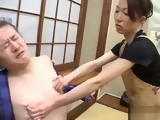 Japanese Housewife Long Nipples is Fucked by Brotherinlaw