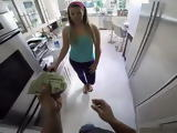 Full Stack of Cash Helped Me To Convince Best Friends Sister To Let Me Fuck Her in Pov Style