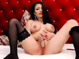 Home bathroom cam with big boobs babe toying wet hole