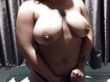 Latina Slut plays with her pussy and tits. Does what I say!