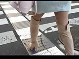 sexy high heels boots and mini dress from Asia street