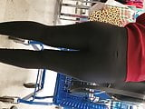 Nice Asian Mexican girl booty in public store