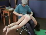 Skater girl stripped and shame spanked. Rare clip.