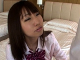 Hawt japanese shows merciless oral sex in pov xxx