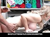 Blonde MILF Fucked By Security Guard