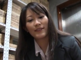 Voracious oriental lady Kozue Hirayama does something