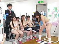 Japanese girls inspected by doctor