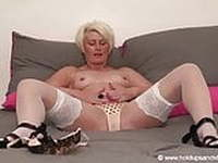 Sally Taylor-Hot Solo In White Stockings