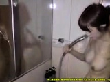 Close up pussy and ass fuck in the shower
