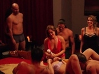 Daily oral sex between horny and kinky swinger couples.