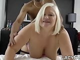 Busty UK GILF impaled on big black cock and drilled hard