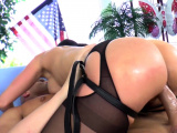 Buxom prodomme giving bj and pegging sub