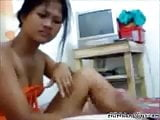 Pinay stroking little dick