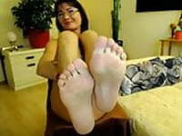 Lovely mature feet webcam