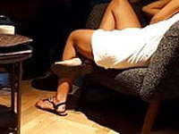 Candid sexy sitting girl.. sexy feets
