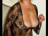 Big breasts In black lace