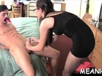 How about penetrating the wicked slut in her taut vag
