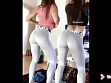 3 sexy girls dance and show their butts