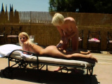 Nasty lesbos fill up their big bums with milk and squ89MuR