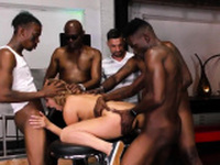 Domina gets bbc creampie