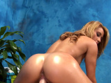 Sweetie gives fine massage and a skillful throat job