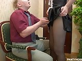 Fat man fucked his housekeeper