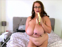 BBW Georgina Gee Enjoys Giant Tits And A Banana