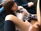 Astounding chick gets groped and sucks a large meaty pecker