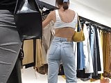 Round plump british ass eatin up high waisted jeans