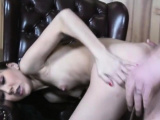 Skinny girl gets penetrated with a long dick