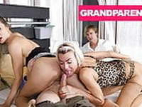GrandParents Fucking Teens at Swingers Club