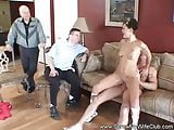 Threesome For Swinger Wifes Birthday Surprise