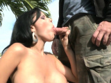 Shlong sucking and ball licking together by voracious milf