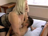 Big ass granny rides face and cock
