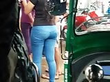 Sri lankan Hidden cam girl sexy ass