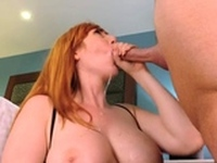 Sultry redhead Lauren Phillips bends down for sex