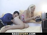 Czech blonde girlfriend takes rough banging from behind