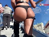 Super juicy ass pawg cheeks leakin out tight thong(repost)