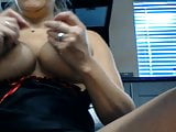 Wife playing with tits