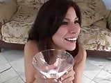 cocktail glass with cum swallow compilation
