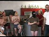 Brunette slut fucked by 30 guys and ends up cum covered